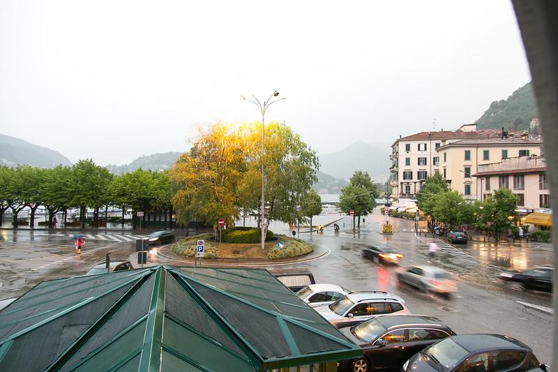 View: hotel window, Como