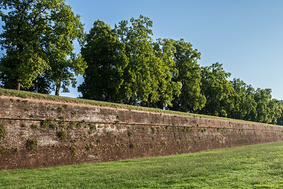 Old Roman wall around city