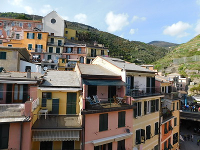 A view across Via Roma from our veranda