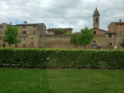 Passing by Buonconvento on our way to Pienza