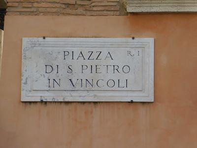 First stop - Basilica di San Pietro in Vincoli