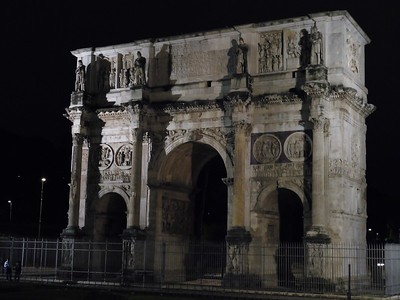 Arco di Constantino - the inspiration for the Arc de Triomphe in Paris