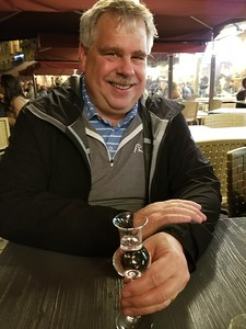 A grappa on the Piazza to finish our first evening in Siena.