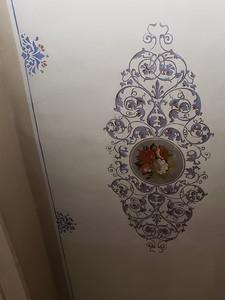 Bedroom ceiling fresco