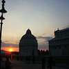 Sunset in the square...