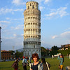 Mom standing near the tower
