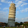 THE SQUARE HAD MANY BEAUTIFUL BUILDINGS IN IT INCLUDING THE LEANING TOWER....