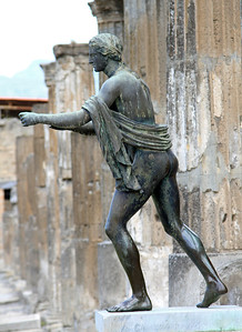 Pompeii - Statue of Apollo in the Temple of Apollo.