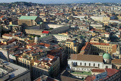 Naples - View over Naples showing the Monastery of St Clare (Monastero di Santa Chiara)