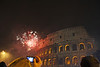 Midnight fireworks at the Colosseum.  Huge crowd, which is both a good & bad thing.....