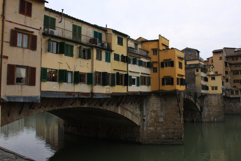 The merchant shops on the Pont del Vecchio, Florence