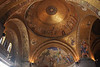 This is the gold leaf mosaic ceiling in the Basilica San Marco