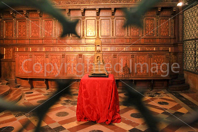The holder of the wedding ring of the Jesus' s mother in Saint Lawrence Cathedral, Perugia