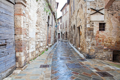 "A  street in San Gemini, described as one of the ""most beautiful villages in Italy"""