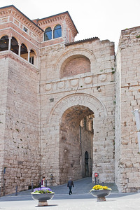 Arco Etrusco, a gate in the city wall of Perugia