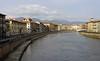 River Arno, Pisa, 18 April 2015.  Looking east (upstream) towards Florence.
