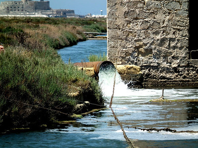 Now the water moves much faster by modern pumps.