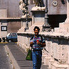 Tim crossing the Ponte Sant Angelo in1999.