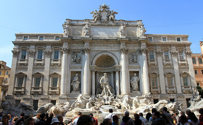 The Trevi Fountain, completed 1762.