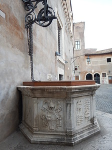well in courtyard