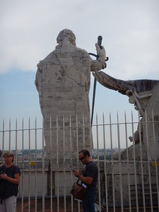 Colonnade statue
