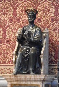 St. Peter with worn foot