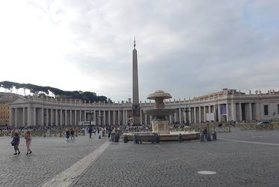St. Peter's Square - obelisk & fountains