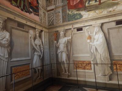 frescoes, not statues