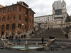 These are the Spanish Steps. At the base of the steps is the Fountain of the Old Boat.