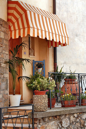 A porch in Siena, Italy.