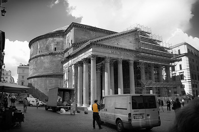 A Deliveryman in front of the Pantheon - Rome