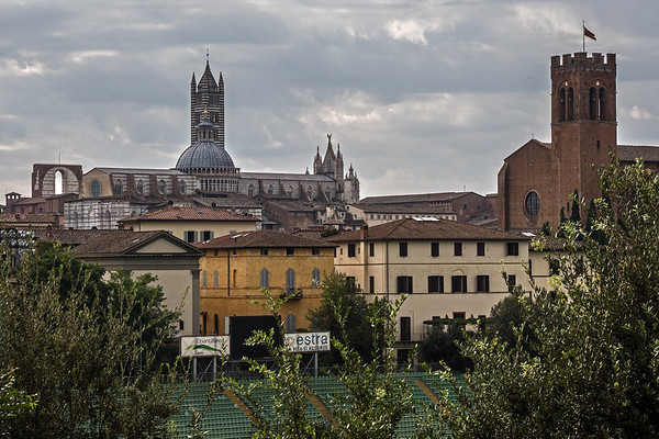 Looking into the city of Siena
