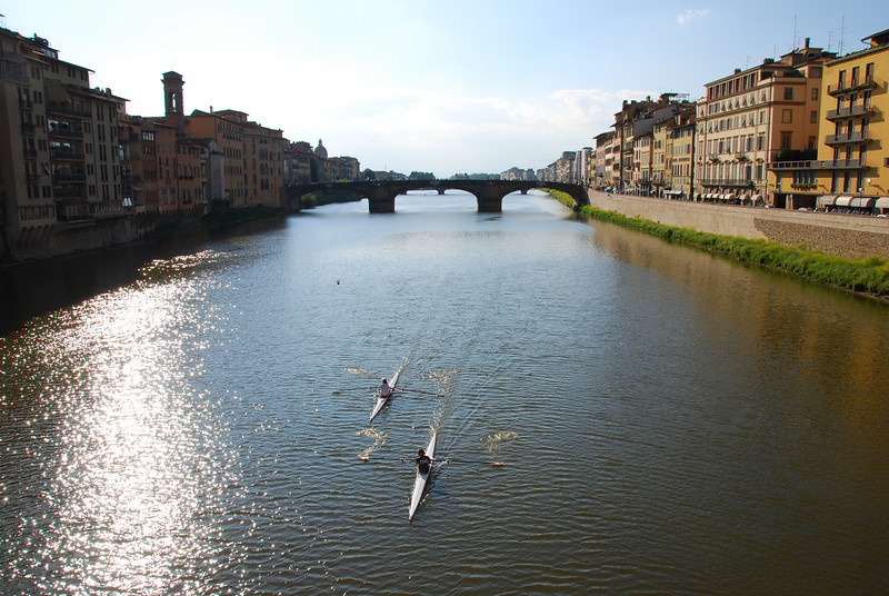 Beautiful Florence - Arno River scene