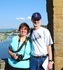 Bev & Brian on the Ponte Vecchio in Florence