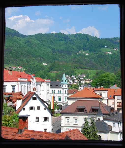 View of Idrija, Slovenia
