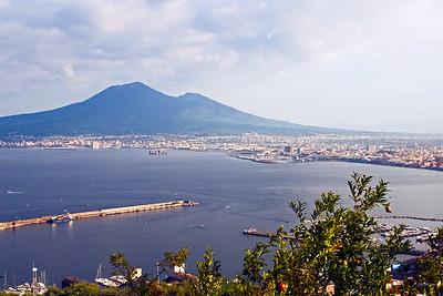Mount Vesuvius - An eruption in 79 AD destroyed ciity of Pompeii