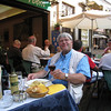 Stresa - having a fine hot meal at Ristorante Caffe Torino after a long day of travel from Nice!