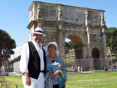 With the Arch of Constantine (315 AD)