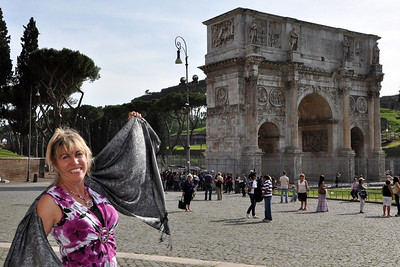Lisa at the Arch of Constantine (315 AD)