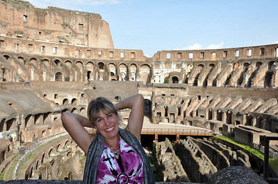 Lisa at the Colosseum