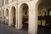 Portico and shops along Via Po