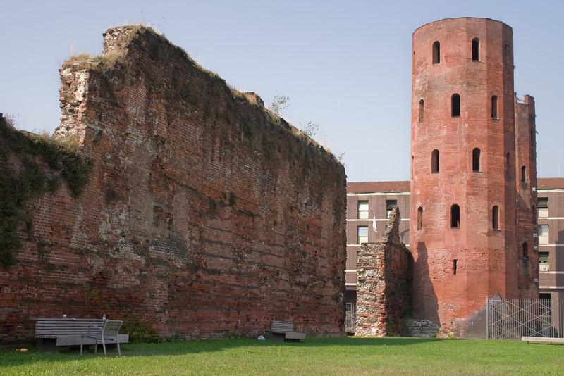 Porta Palatina - part of the original Roman wall that surrounded the city, circa 28 BC.