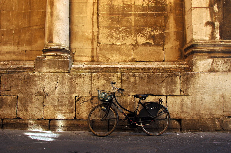 Lonely bicycle (Piazza San Michele) Lucca, Tuscany