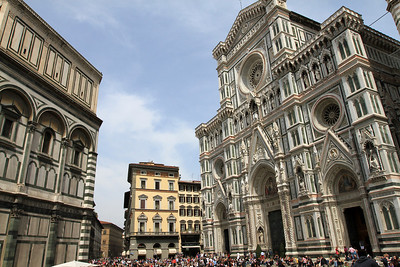 Florence - Duomo (right) and Baptistry (left).