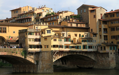 Florence - Buildings on the Ponte Vecchio.