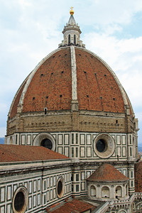Florence - The dome of the Duomo, finished in 1463.