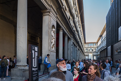Entrance area to Uffizi Gallery