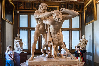 """""""Hercules and Nessus"""" restored from ancient fragments by Giovanni Caccini, 1556-1613"""