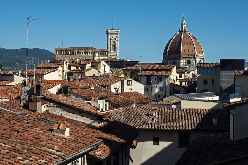 Another look outside to rooftops of Florence