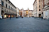 A view in the square in downtown Vicenza.